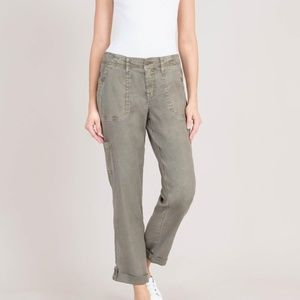 Level 99 Gray Dayla Cargo Linen Tencel Pants 29